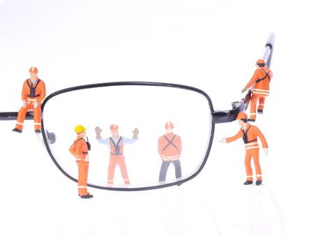 vision repair: glasses repair Stock Photo