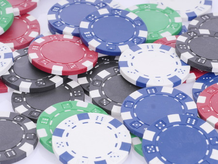 disordered: Poker chips disordered