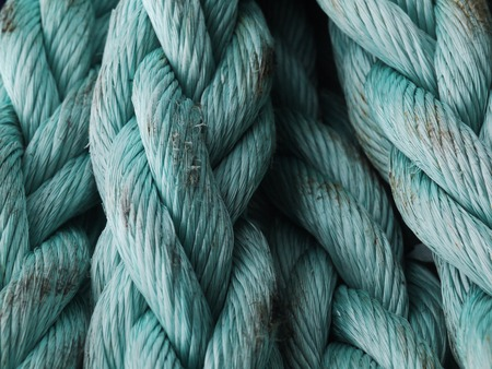 coiled rope: Closeup of blue coiled rope