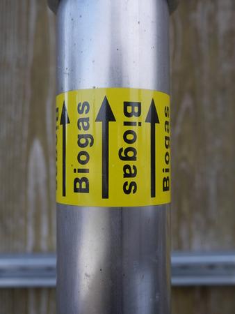 a plug valve for biogas Stock Photo