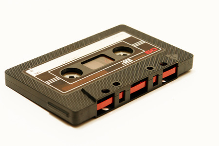 an old grunge music-cassette tape photo