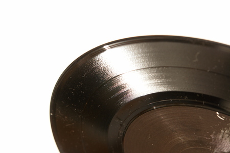 an isolated vinyl record photo