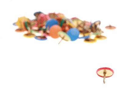 coulorful: close-up of thumbtacks            Stock Photo