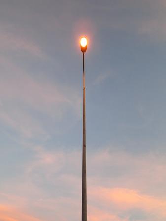 Streetlights at Dusk street light sunset