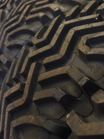 Tractor Tyre (Tire) Close-Up Stock Photo - 25061558