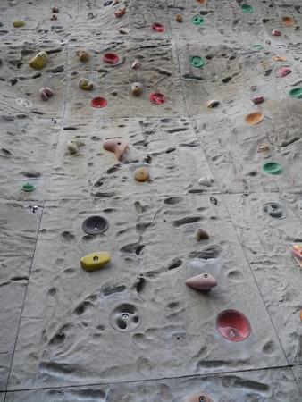 climbing  wall: a very big climbing wall Stock Photo
