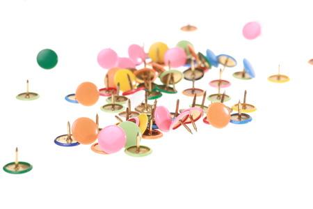 coulorful: close-up of thumbtacks Stock Photo