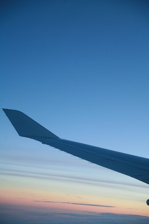 wingtips: wings of an airplane in the sky............