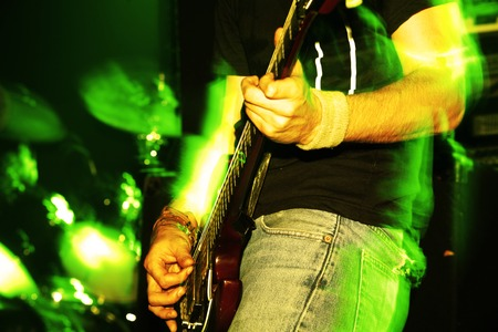 poem: Details of a rockgig. Motioneffect! Stock Photo