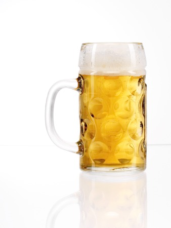 stein: traditional Bavarian beer glass called Mass. Stock Photo