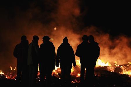 Night big bonfire called Funken