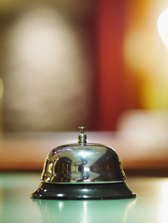A service bell in a hotel photo