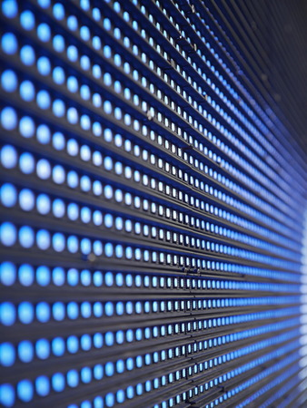 Blue Light Emitting Diodes  on screen photo