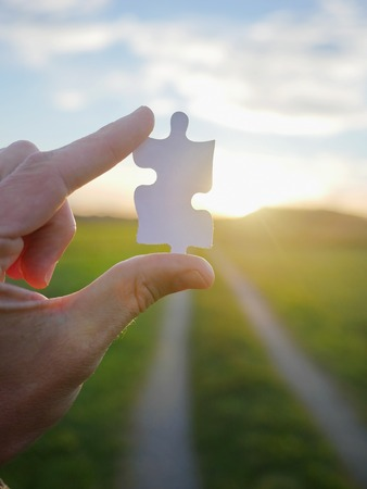 solution concept: Pinch a piece of the jigsaw puzzle