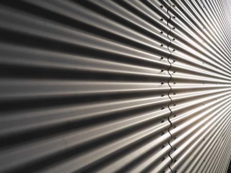 corrugated metal warehouse facade abstract Stock Photo