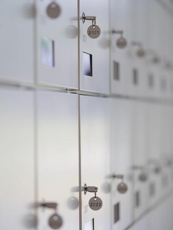 lockbox: a lot of wardrobes with keys