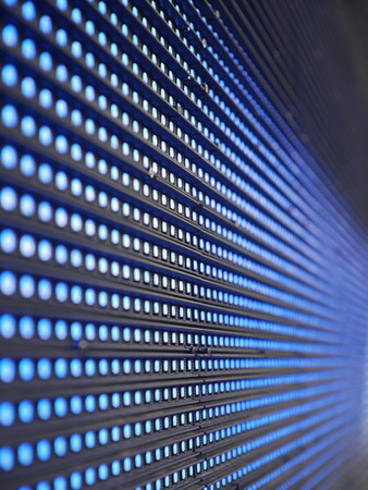 light emitting: Blue Light Emitting Diodes  on screen Stock Photo