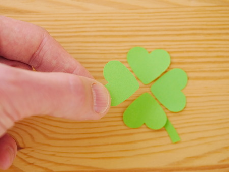 fourleaf: Green clover leaf with green hearts