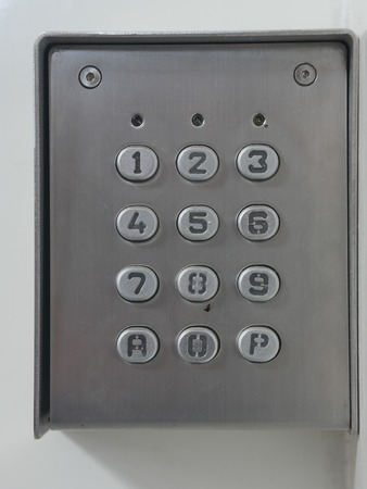 keypad: numerical code lock keypad numbers Stock Photo