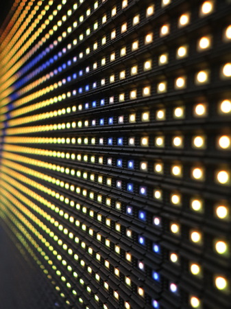 green bulb: RGB LED screen panel texture