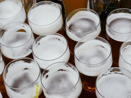 alehouse: A row of beer pints