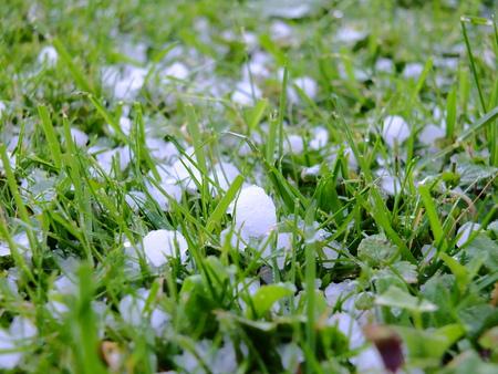 caked: Destroying Hail Stock Photo