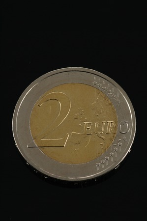 european currency: One Euro coin money isolated (European currency)