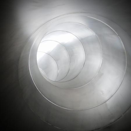 corrode: Metal tube  industrial background metal shining tube