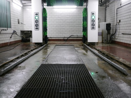 dirty car: a modern and automatic car wash system