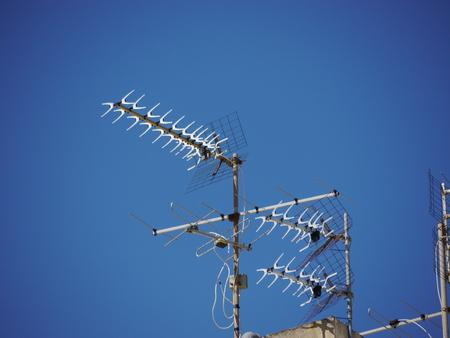 antennas: a lot of satellite antennas