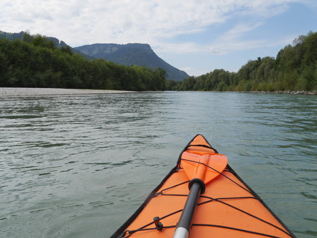 flowing river: kayaking on slow flowing river