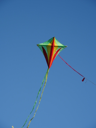 bloating: colorful kite flying in the wind