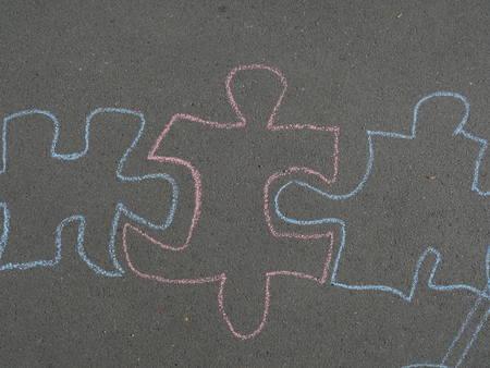 chalk drawing from children on the asphalt