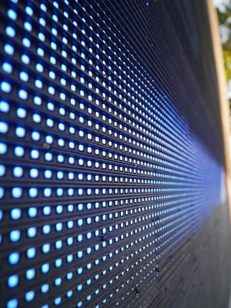 the light emitting: Blue Light Emitting Diodes  on screen Stock Photo