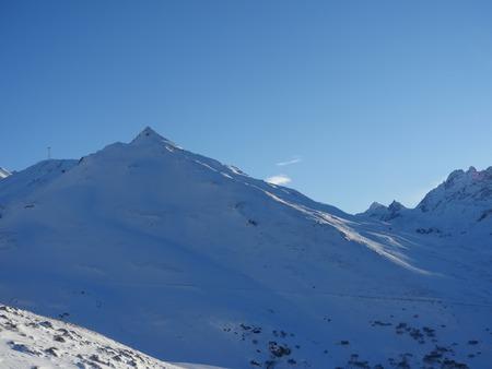 mountain range: Alps mountain range in winter Stock Photo