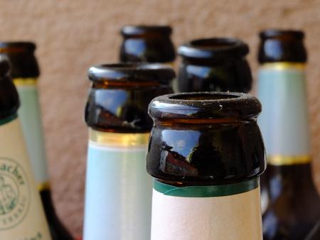 bottlenecks: beer bottlenecks on background