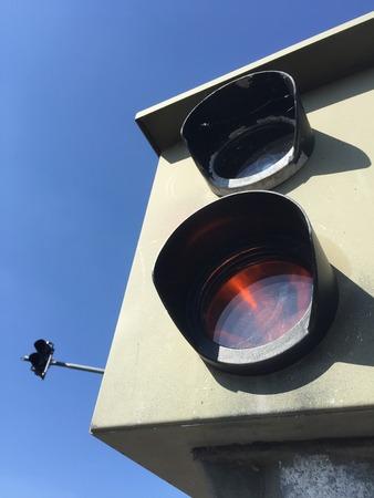 traffic control: traffic control called radar trap Stock Photo