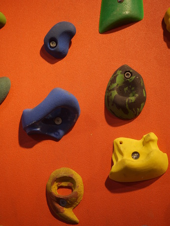 rapell: a climbing wall with hanger to hold