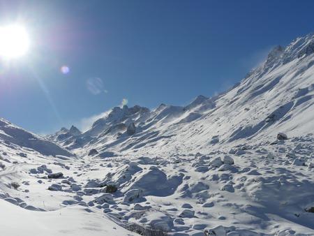 Alps mountain range in winter