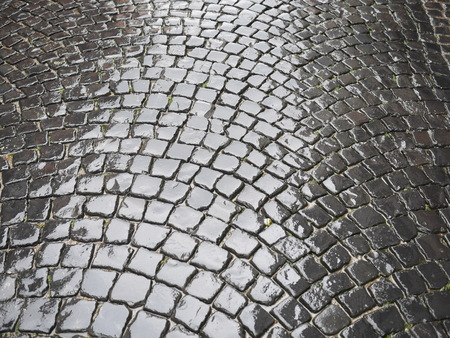 cobblestones: wet ancient cobblestones on oldcity