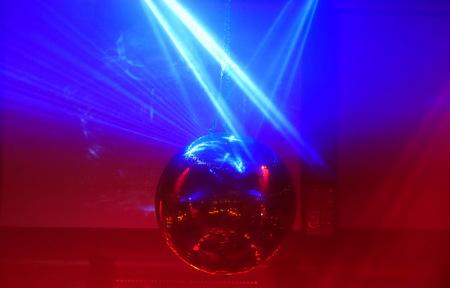 mirror ball lights disco background