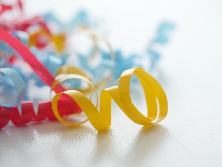 gift ribbons on white Stock Photo