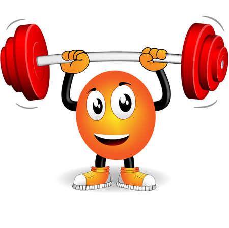 gusseisen: Smiley, die Sportarten mit Gewichtsklassen bar gespielt