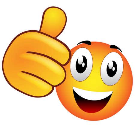 generosit�: Smiley che solleva il pollice
