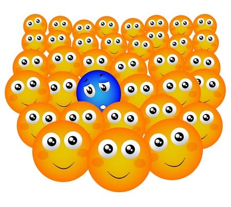 perişan: mutlu kalabalığın içinde sefil kişi