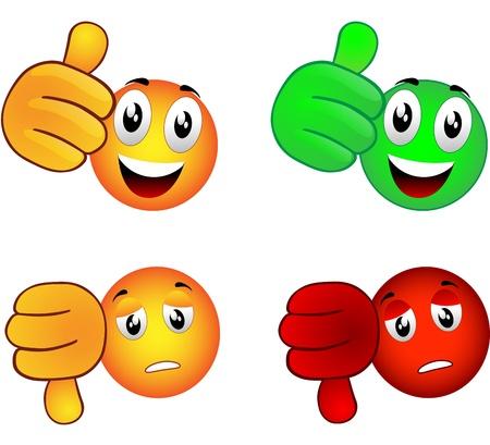 smiley pouce: Smiley qui soulève le pouce