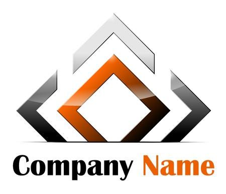 diamond letter: Logo astratto Vettoriali