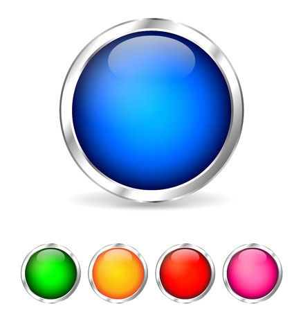 clic: colorful buttons Illustration