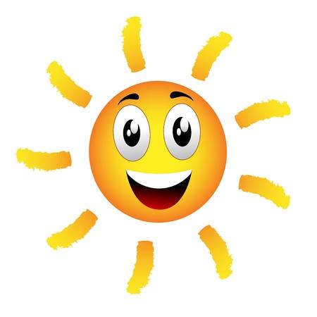 emoticon sun Stock Vector - 21322372