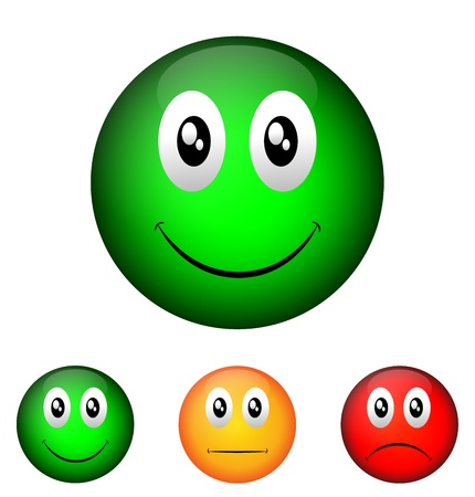 Emoticon validatie Stock Illustratie